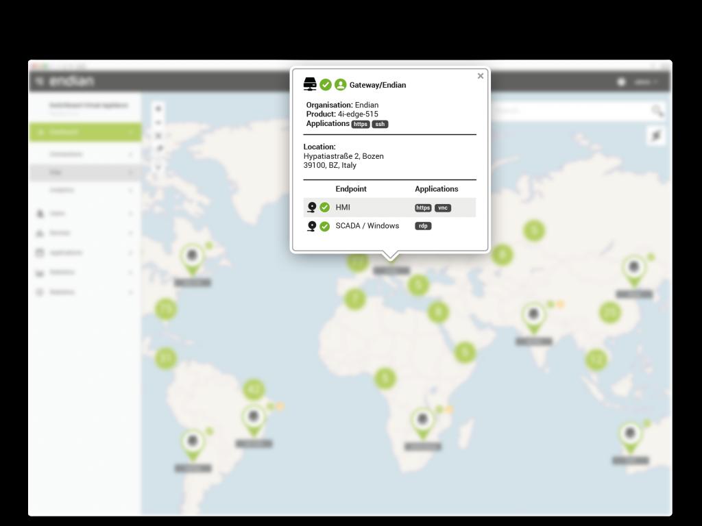 Panoramica dettagliata fornisce informazioni sul sito e link per l'accesso remoto