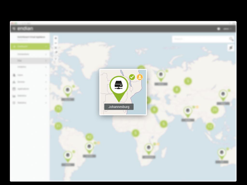 Sehen Sie, wer sich mit den Niederlassungen verbindet - inklusive Echtzeit-Benutzerinformationen.